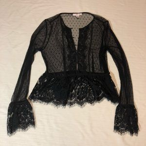 Forever 21 lace long sleeve top